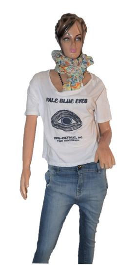 Maria Cher Remera Pale Blue Blanca