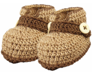 Sapatinho De Crochê Para Bebê Menino Modelo Pimpolho (rn)