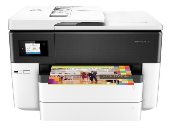 Impressora Officejet Pro Hp7740 C/bulk Ink Instalado Tintas