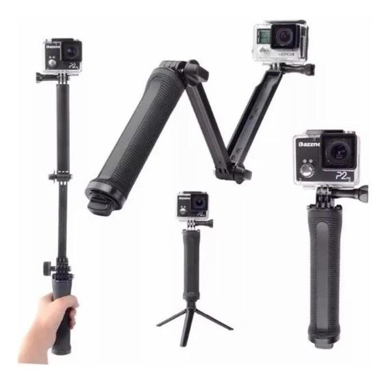 Bastão Selfie E Tripe De 3 Formas Para Gopro/câmera De Ação