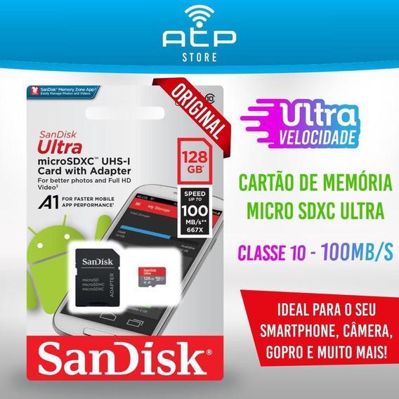 Cartão Micro Sd 128gb Ultra Classe 10 100mb/s Original