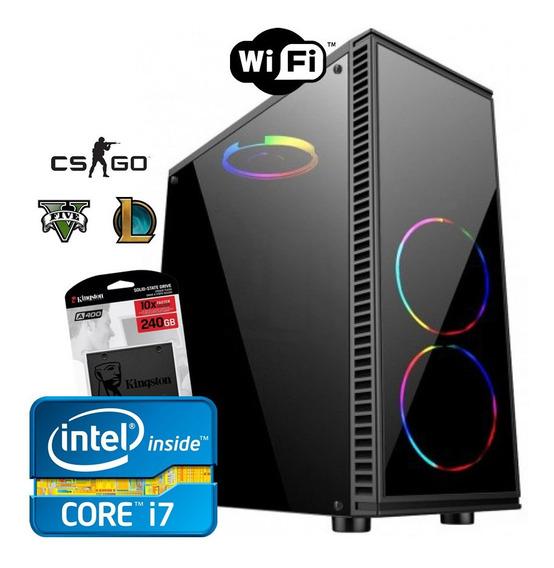 Pc Gamer Intel Core I7 2600 3.8ghz + 8gb Ram + Ssd 240gb