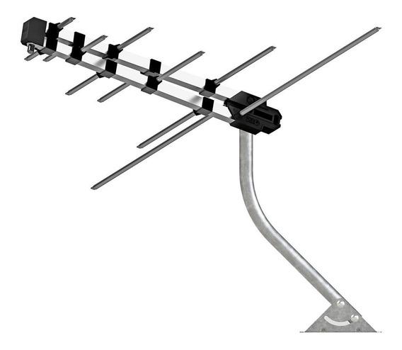 Antena Externa Multilaser Tv Log Rg59 Vhf/uhf Re218