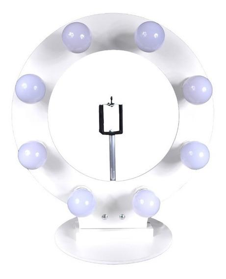 Ring Light Iluminação Para 8 Lâmpadas Led Suporte De Celular