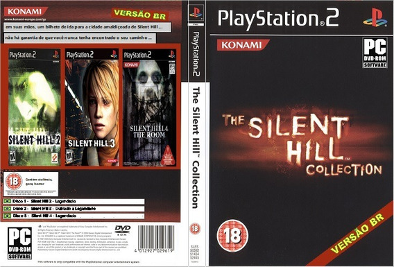 Jogo Ps2 - Silent Hill Collection - Versão Br (3 Discos)