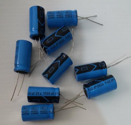 Imagem 1 de 1 de Capacitor Eletrolítico 1500uf X 35v - Kit Com 10 Unidades