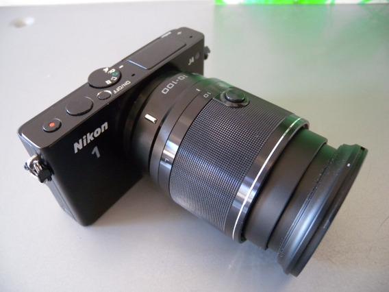 Câmera Nikon J4 Zoom 10-100mm 18.4mp Intercambiável