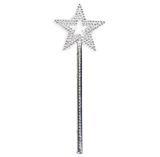 Akoak Star Wand, 13 Pulgadas Silver Fairy Princess Angel