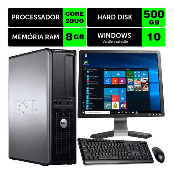 Computador Barato Dell Optiplex Int C2duo 8gb Ddr3 500gb 17q