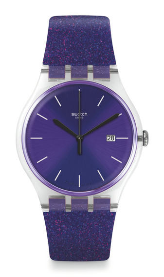 Reloj Glitter Morado Swatch