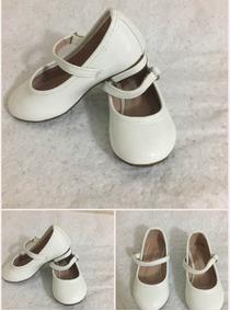 Zapatos Blancos Charol Pulsera Niña