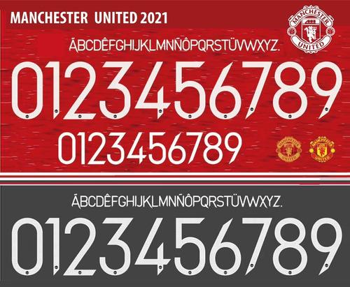 Imagen 1 de 5 de Tipografía Vectorizada Manchester United 2021 Estampadores