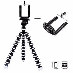Mini Tripé Flexível Almofada C/ Clipe Ajustável P/ Celular