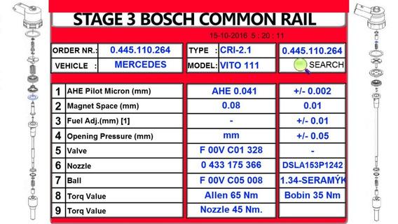 Programa Para Reparo De Injetores Terceira Etapa Bosch