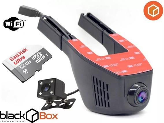 Câmera Veicular Black Box Gp Dual 2 Câmeras Wireless + 32gb