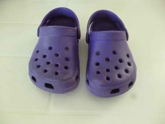 Crocs Nacionales Nena Color Violeta Número 6/7