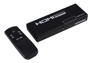5 Puertos Hdmi Switch Switcher Selector Splitter Con Control