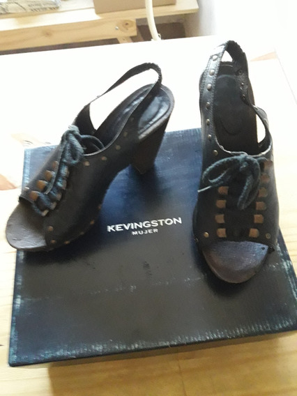 Sueco Kevingston Negro Mujer Talle 39