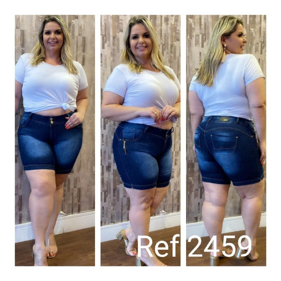 Kit De 3 Shorts Jeans Plus Size Feminino Hot Pants Com Lycra