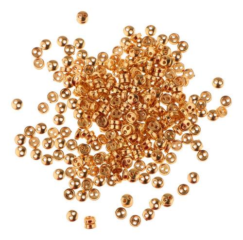Imagen 1 de 8 de 300pcs / Set Mini Botones Minúsculos De Metal Para Ropa De