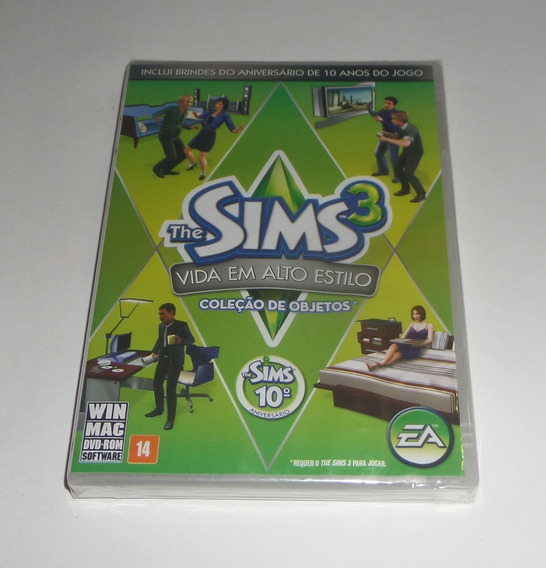 The Sims 3 Vida Em Alto Estilo Original Lacrado Física Pc