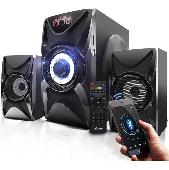 Micro System Caixa Som Bivolt 2.1 3000w Bluetooth Fm Mp3 Pc