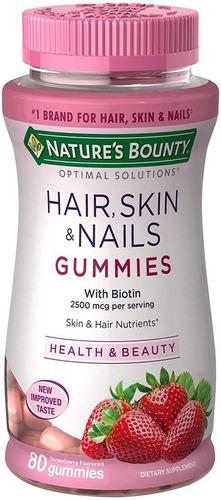 Imagen 1 de 6 de Hair Skin & Nails En Gomitas 80 Piezas Cabello Piel Y Uñas