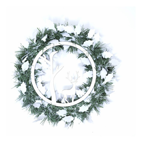 Corona Navidad 30 Cm Decorada #677
