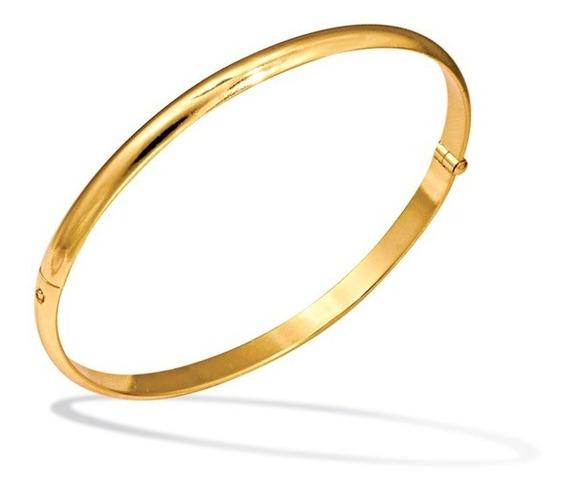 Pulseira Feminina Dourada Bracelete Algema Folheada Ouro 18k