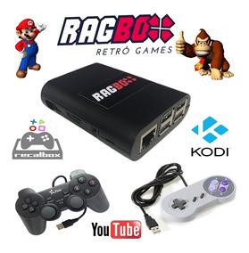 Ragbox 32 Gb Com 10 Mil Jogos + Kodi + 2 Controles Com Fio