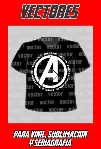 Kit Vectores Avengers Endgame Sublima Corte Vinil Serigrafia
