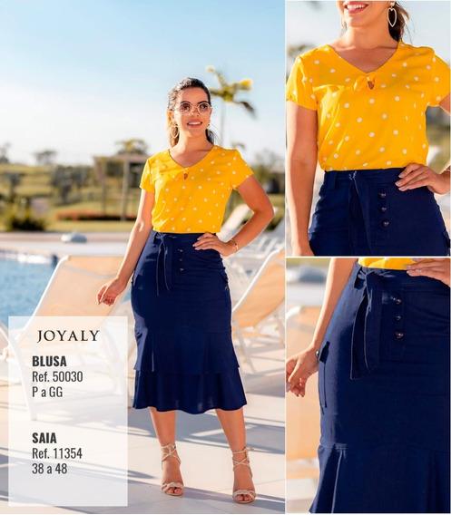 Blusa Poa - Moda Evangélica Lançamento Joyaly (50030 - E)