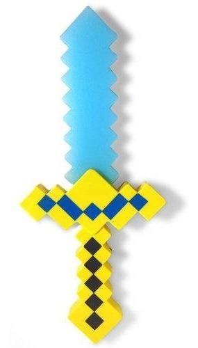 Espada Minecraft Diamante Ouro Picareta 37cm Com Som E Luz