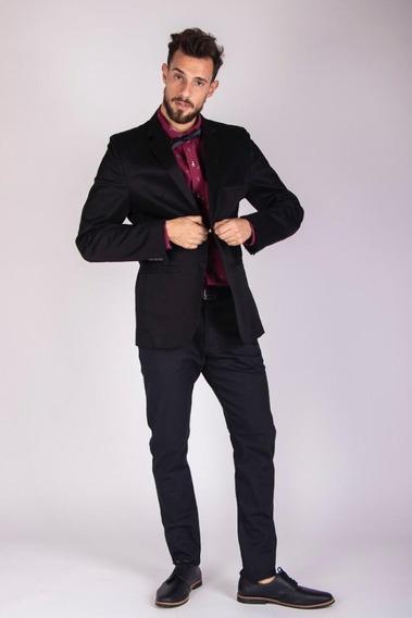 Oferta 2 Pantalones De Gabardina Entallado Elastizado Hombre