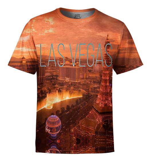Camiseta Masculina Las Vegas Estampa Digital
