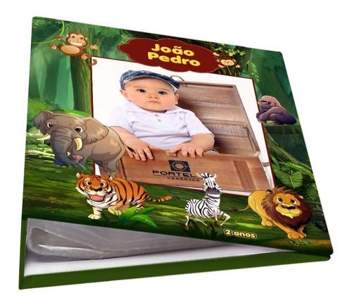 Álbum Personalizado 240 Fotos 10x15 Folhas Plástico Safari