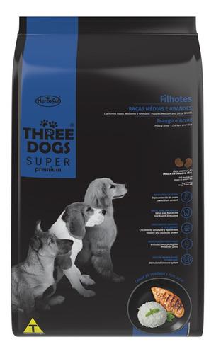 Three Dogs Cachorro Raza Mediana Y Grande 3kg + Regalo