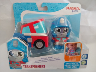 Transformers Fisher Price Solo Azul Con Coche Rojo Disponibl