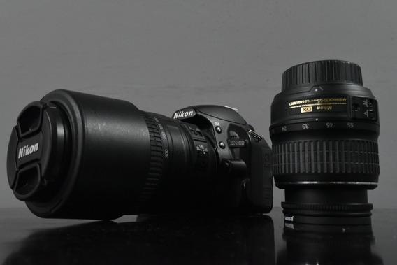 Nikon D3100 14mp + 2 Lentes + Card8gb + 2 Bat + 2 Filtros