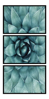Quadro Decorativo Flor Azul Pétalas Grande Sala Vertical