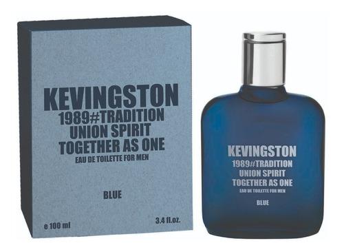 Imagen 1 de 2 de Perfume Kevingston 1989 Blue Hombre X100ml  Regalo Local