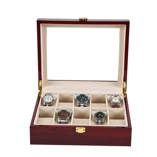 Caja Porta Relojes 10 Unidades Madera Hombre Mujer