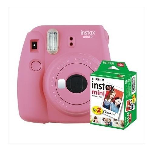 Câmera Instantânea Instax Mini 9 Rosa Flamingo + 20 Poses