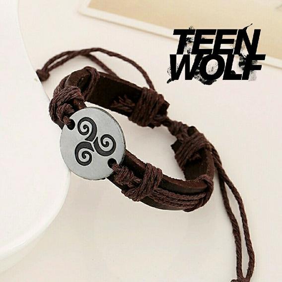 Pulseira Teen Wolf Em Couro Derek Hale Triskele