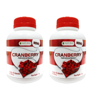 Antioxidante Cranberry Naturei 500mg 120 Cápsulas