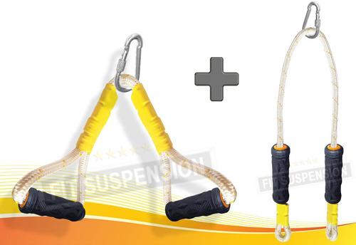 Kit Corda Puxador Triângulo + Tríceps Profissional Ótimo