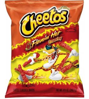 Cheetos Crunchy Flaming Hot Pack X 4 -8.5 Oz