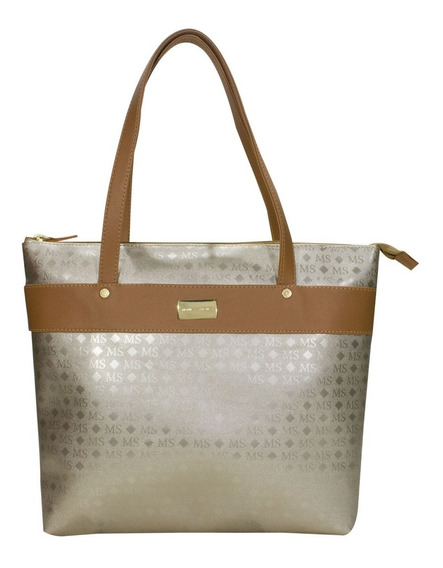 Bolsa Feminina 2937 Ms Transfer Ouro Monica Sanches Orignal