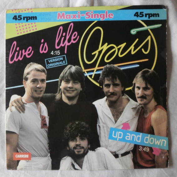 Lp Opus 1984 Live Is Life, Up And Down Maxi Single Importado