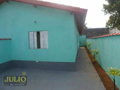 Imagem 1 de 8 de Entrada R$ 34 Mil + Saldo Financiado! Casa Com 2 Dormitórios, 60 M² Por R$ 169.900 - Jussara - Mongaguá/sp - Ca3729